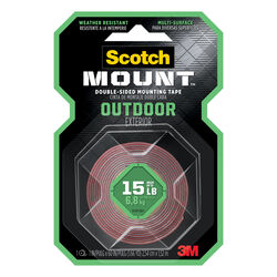 Scotch  Mount  Double Sided 1 in. W x 60 in. L Mounting Tape  Gray