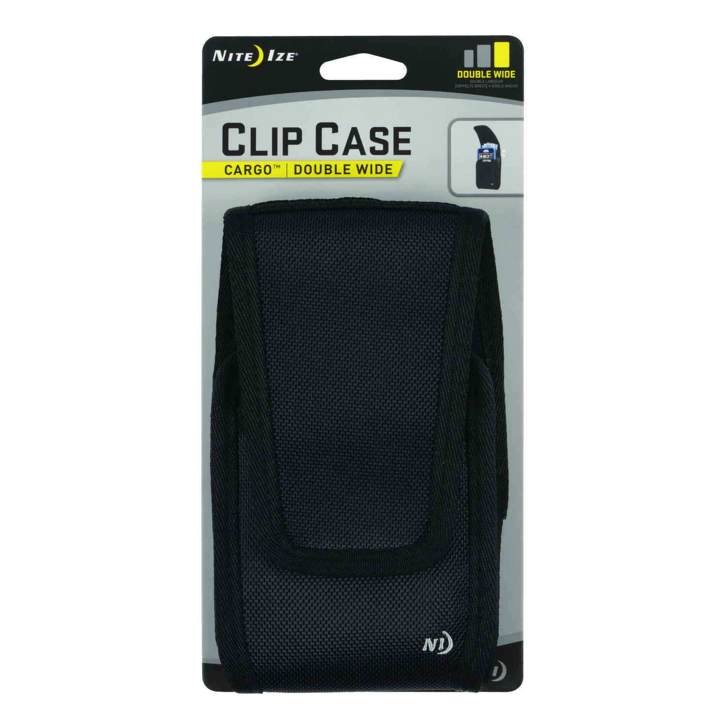 Nite Ize  Clip Case Cargo  Black  Cell Phone Case  Universal