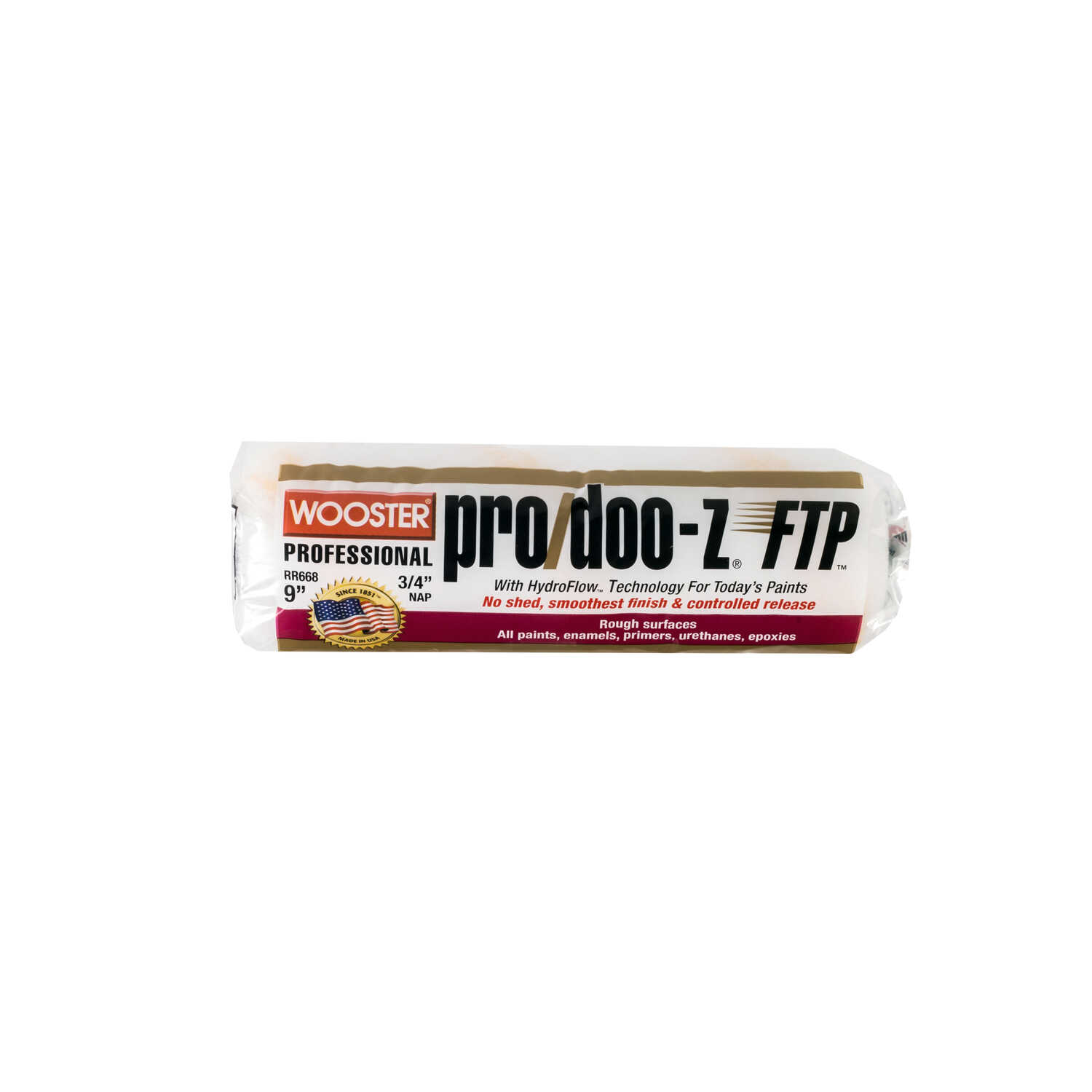 Wooster  Pro/Doo-Z FTP  Synthetic Blend  3/4 in.  x 9 in. W Regular  Paint Roller Cover  1 pk