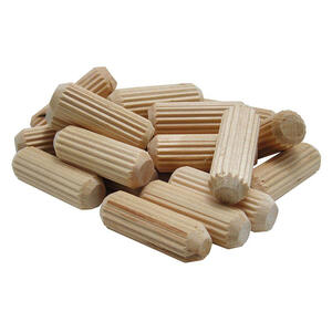 Wolfcraft  Fluted  Hardwood  Dowel Pin  1/4 in. Dia. x 1-1/8 in. L 1 pk Natural