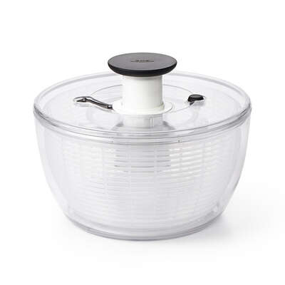 OXO  Good Grips  10-1/2 in. W x 10-1/2 in. L White/Clear  Plastic  Salad Spinner