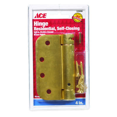 Ace 4 in. L Satin Brass Self Closing Hinge 1 pk