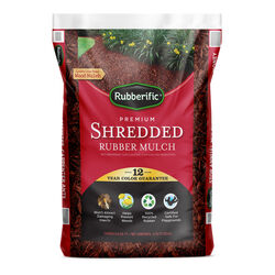 Rubberific  Red  Rubber  Mulch  0.8 cu. ft.