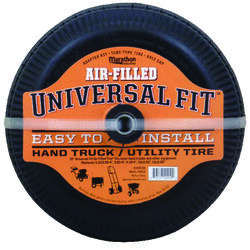 Marathon  Universal Fit  4 in. Dia. x 10 in. Dia. 300 lb. capacity Offset  Hand Truck Tire  Rubber