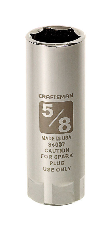 Craftsman  5/8 in.  x 1/2 in. drive  SAE  6 Point Spark Plug Socket  1 pc.