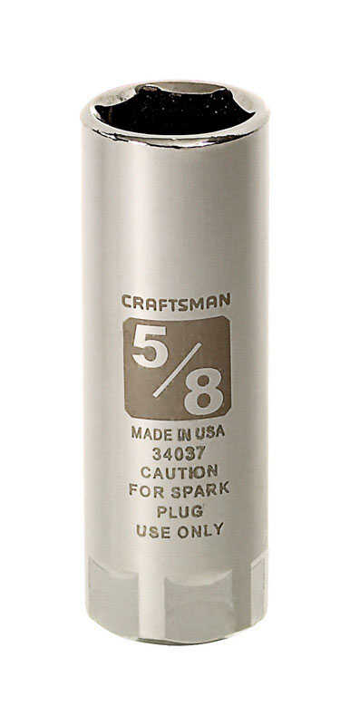 Craftsman  5/8 in.  x 1/2 in. drive  SAE  6 Point Standard  Spark Plug Socket  1 pc.