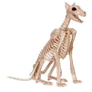 Seasons  Large Skeleton Dog  Halloween Decoration  29 in. H x 9-1/2 in. W 1 pk