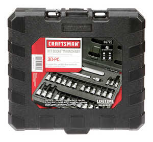 Craftsman  3/8 in.  x 1/4, 3/8 and 1/2 in. drive  Metric and SAE  6 and 12 Point Torx Bit Socket Set