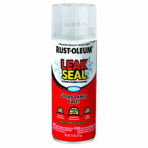Rust-Oleum  Clear  Leakseal Flexible Rubber Sealant  11 oz.