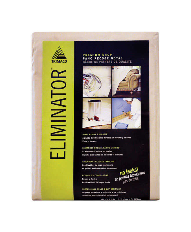 Eliminator  Heavy Weight  Canvas  Drop Cloth  9 ft. W x 12 ft. L