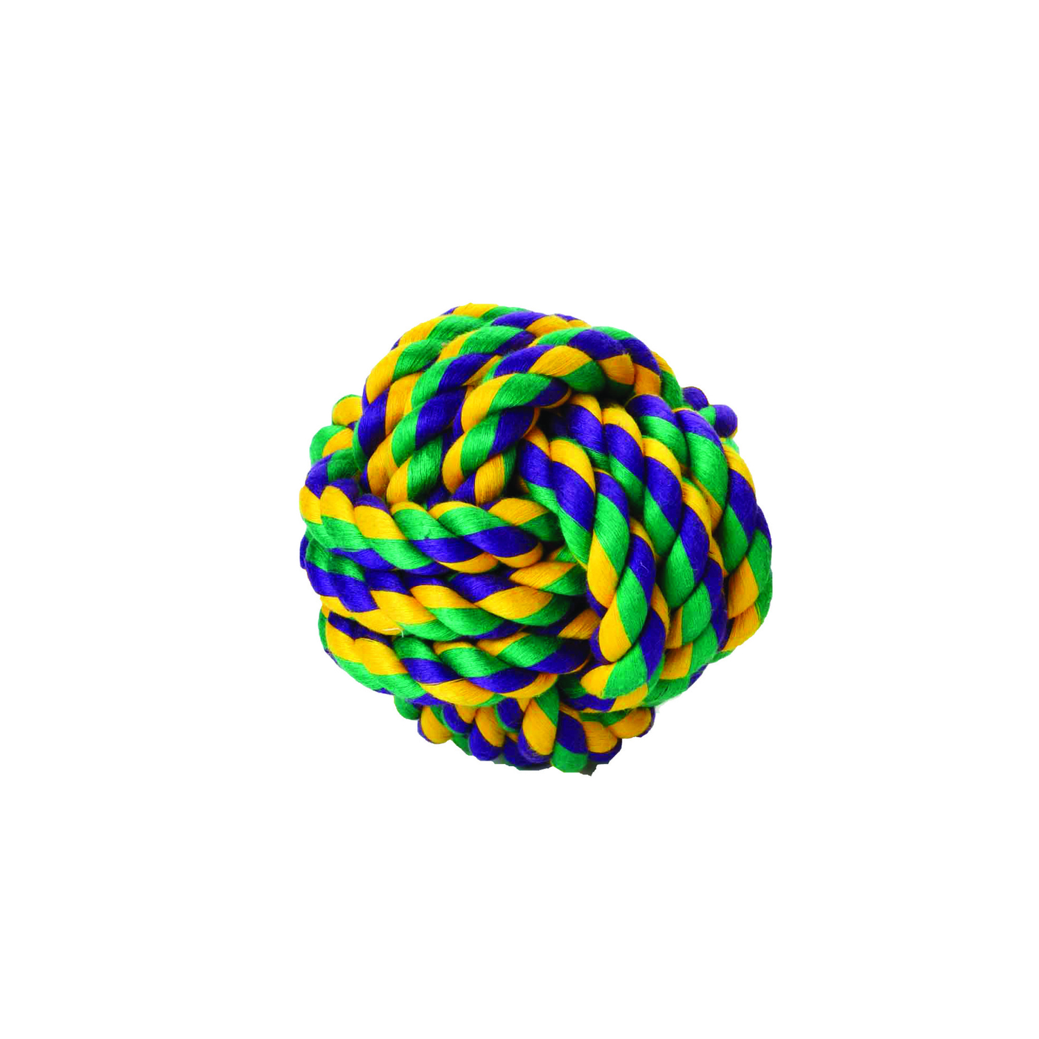 MultiPet  Nuts For Knots Rope Ball  Multicolored  Small  Rope  Cotton