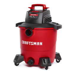 Craftsman  9 gal. Corded  Wet/Dry Vacuum  8.3 amps 120 volt 4.25 hp Red  16 lb.