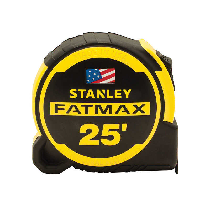 Stanley  Fatmax  25 ft. L x 1.25 in. W Compact  Tape Measure  Yellow  1 pk