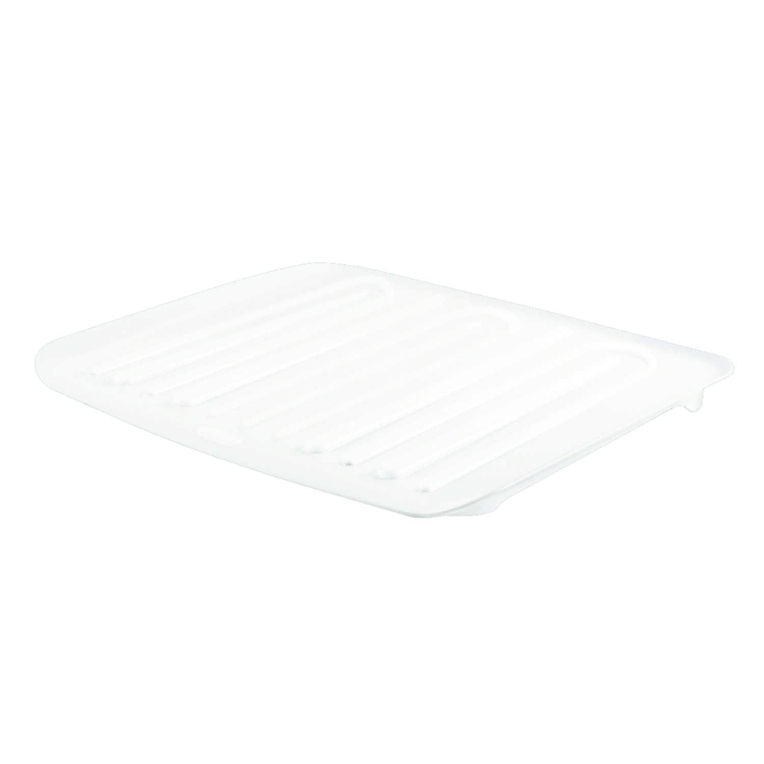 Rubbermaid  1.3 in. H x 18 in. W x 14.7 in. L Plastic  Dish Drainer  White