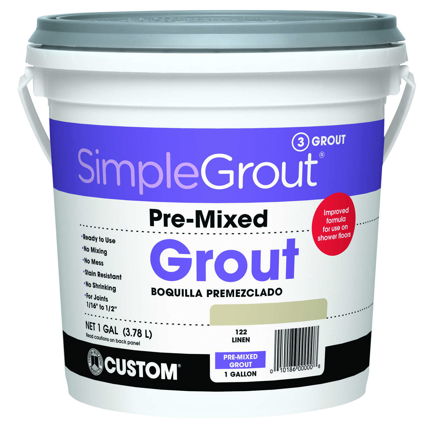 Custom Building Products  SimpleGrout  Indoor  Linen  Grout  1 gal.