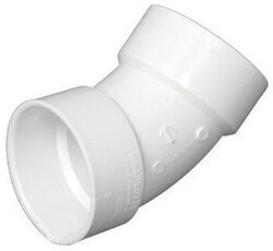 Charlotte Pipe  Schedule 40  4 in. Hub   x 4 in. Dia. Hub  PVC  45 Degree Elbow