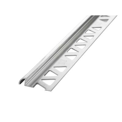 M-D Building Products  5/16 in. H x 96 in. L Prefinished  Clear  Aluminum  Bullnose