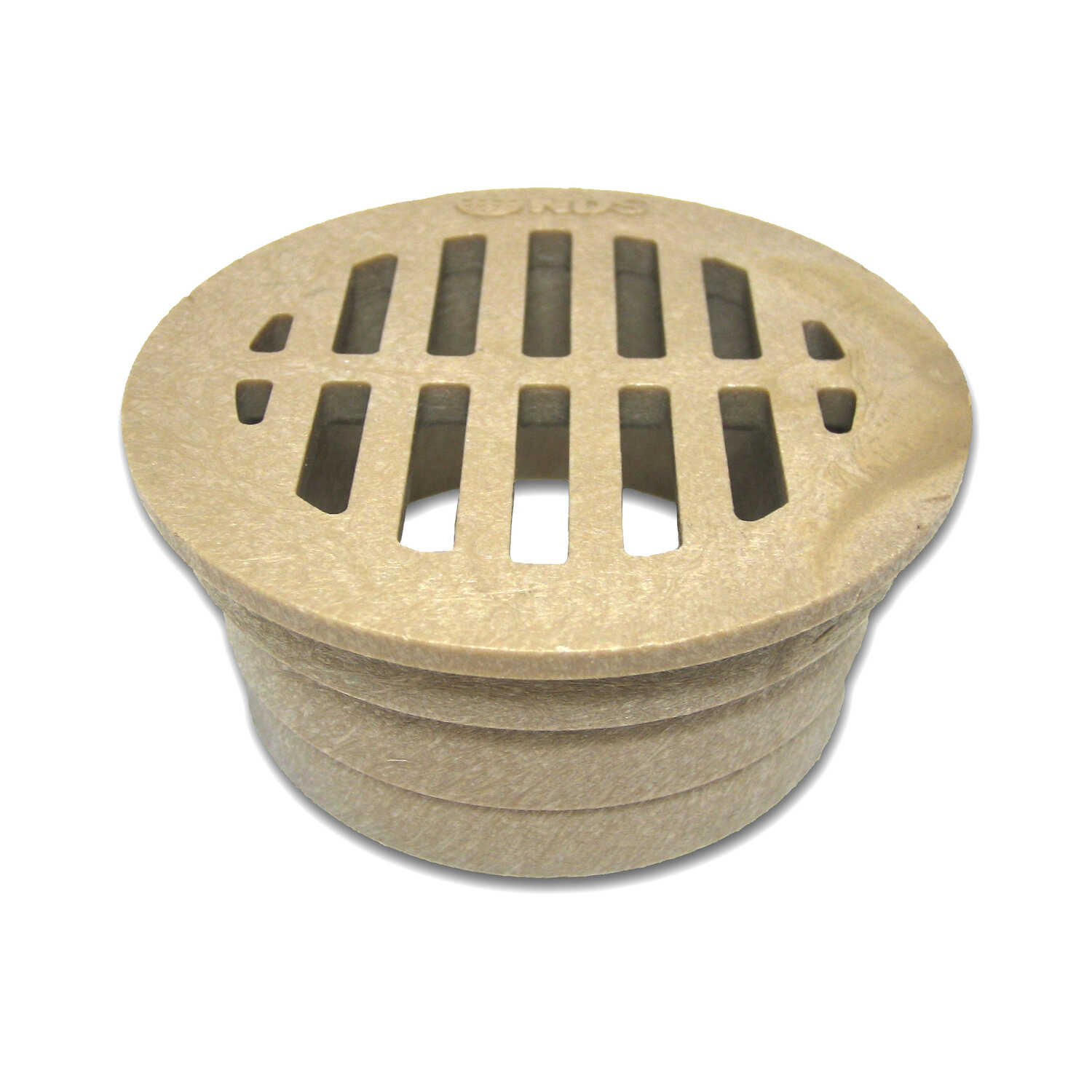 NDS  3 in. Sand  Polyolefin  Round  Grate
