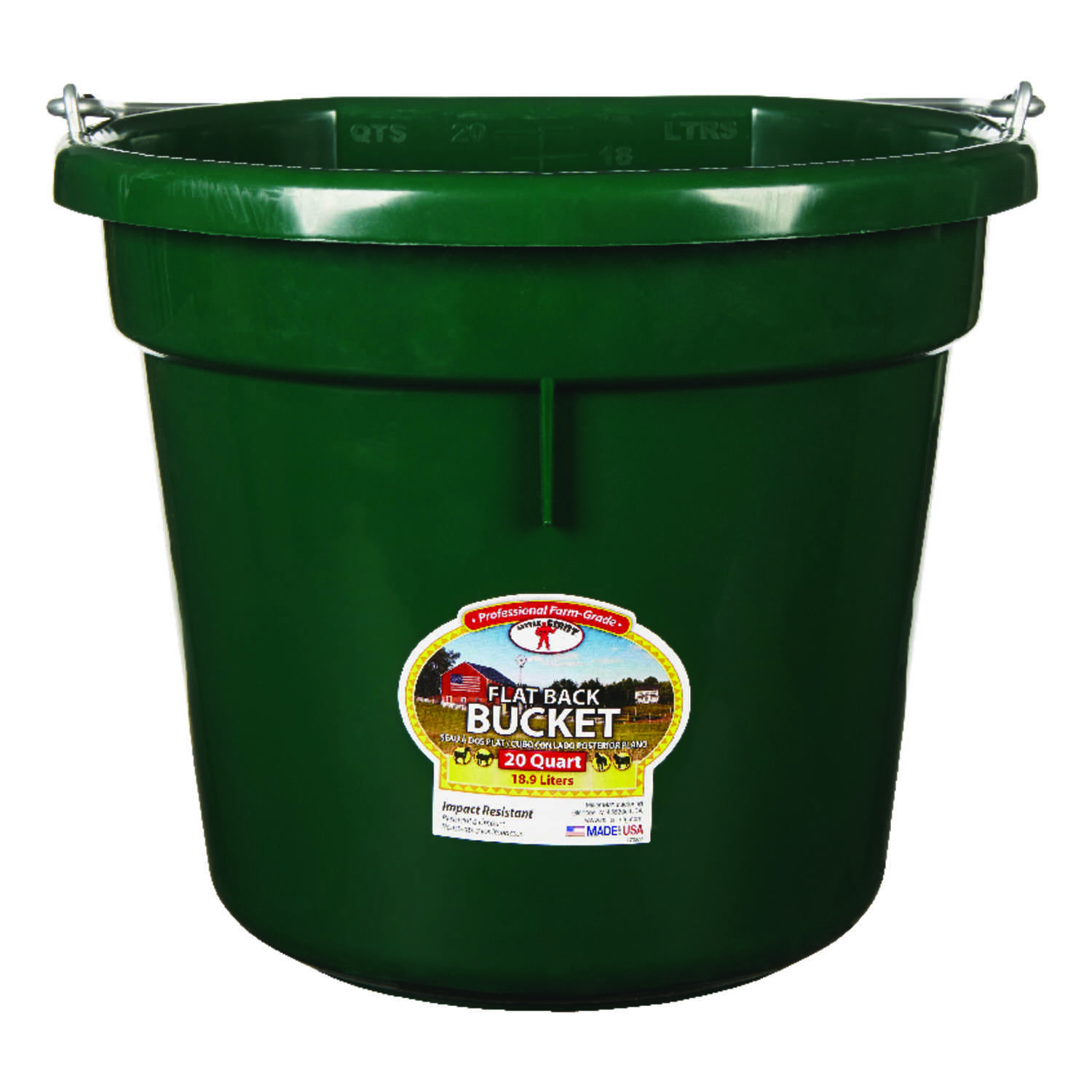 Little Giant  20 qt. Bucket  Green