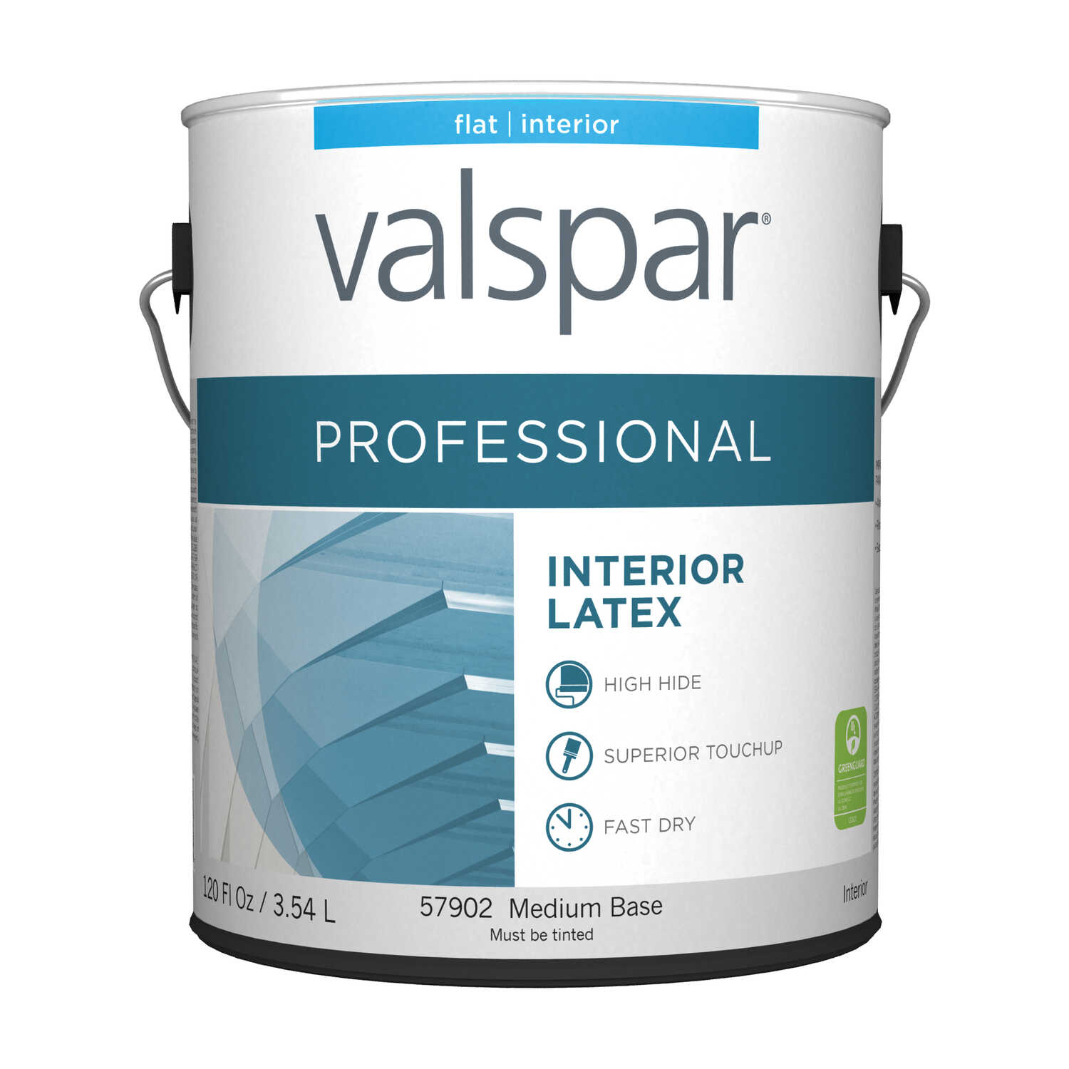 Valspar  Contractor Professional  Flat  Medium Base  Acrylic Latex  Paint  1 gal. Tintable