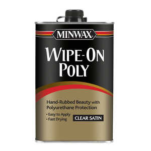 Minwax  Satin  Clear  Polyurethane  1 qt. Indoor  Satin