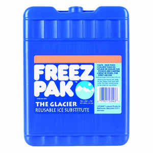 Freez Pak  The Glacier  Lunch Box Cooler  62 oz. Blue