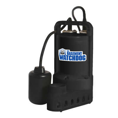 Basement Watchdog  1/2 hp 3,900 gph Thermoplastic  Tethered Float  AC  Submersible Sump Pump
