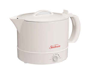 Sunbeam  White  Polypropylene  32 oz.  Electric Tea Kettle