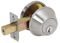 Tell  Satin Nickel  Steel  Single Cylinder Deadbolt