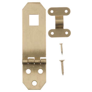 Ace  Solid Brass  Brass  Decorative Hasp  0.8 in. W x 2.8 in. L 2.8 in. 1