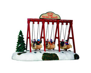 Lemax  Animated Village Park Swing Boats  Village Accessory  Resin  Multicolored  1 each