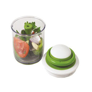 Chef\'n VeggiChop 5-1/2 in. W x 5-1/2 in. L Clear/Green Vegetable ...