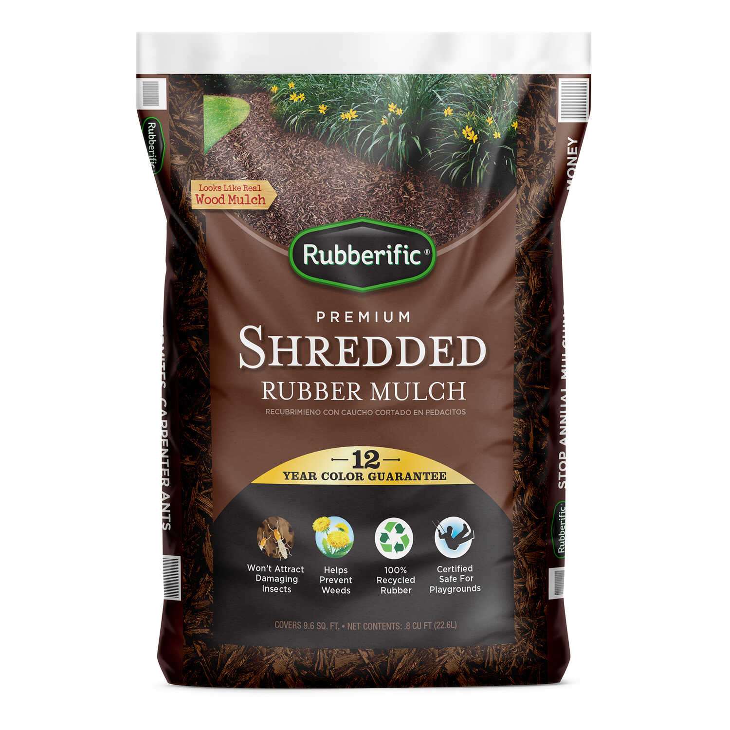 Rubberific  Brown  Rubber  Mulch  0.8 cu. ft.