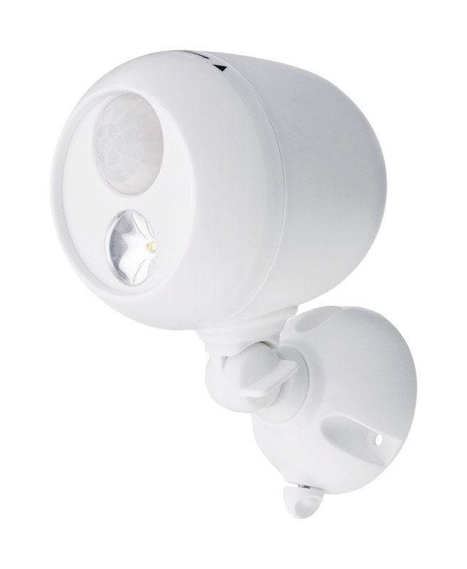 Mr. Beams  Motion-Sensing  Battery Powered  White  Spotlight  Plastic