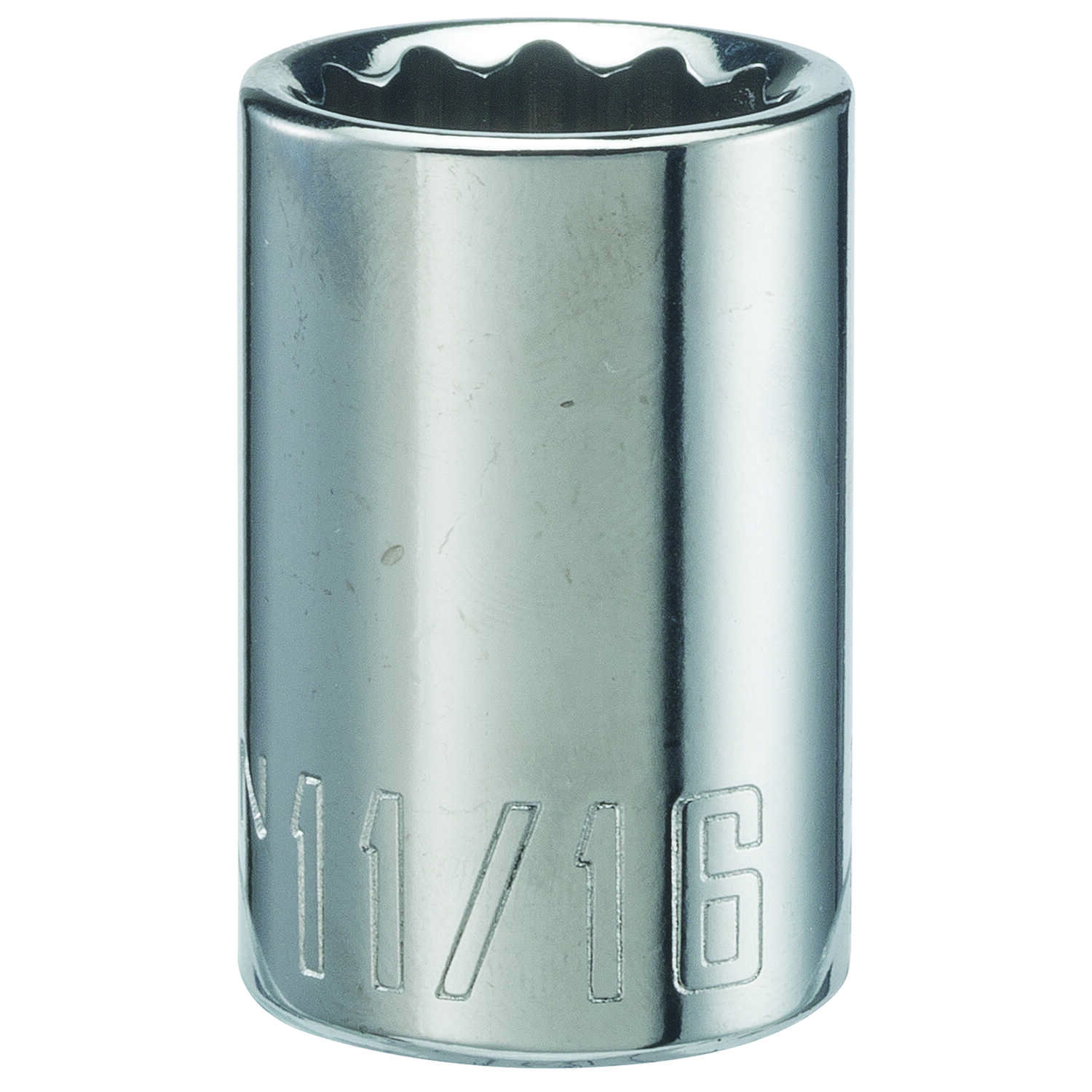 Craftsman  11/16 in.  x 1/2 in. drive  SAE  12 Point Standard  Socket  1 pc.