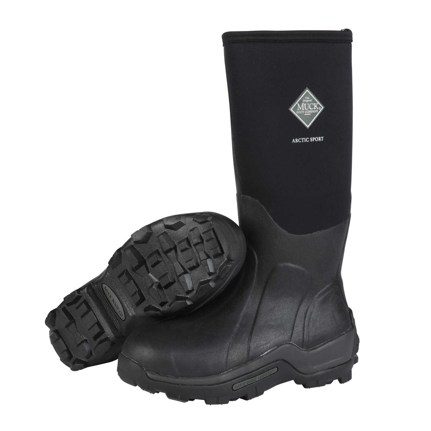 The Original Muck Boot Company  Arctic Sport  Men's  Boots  8 US  Black