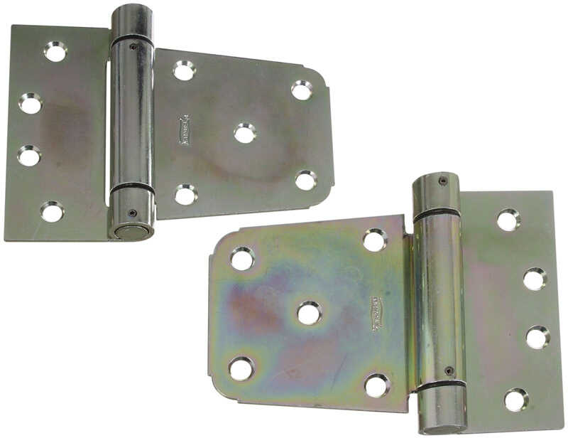 National Hardware  3-1/2 in. L Zinc-Plated  Steel  Extra Heavy Auto-Close Gate Hinge Set  1 pk