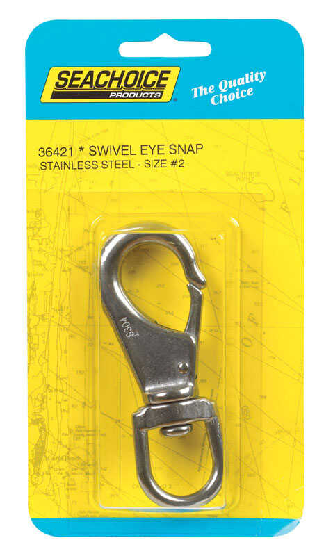 Seachoice  Polished  Stainless Steel  4 in. L x 3/4 in. W Swivel Eye Snap Hook  1 pk