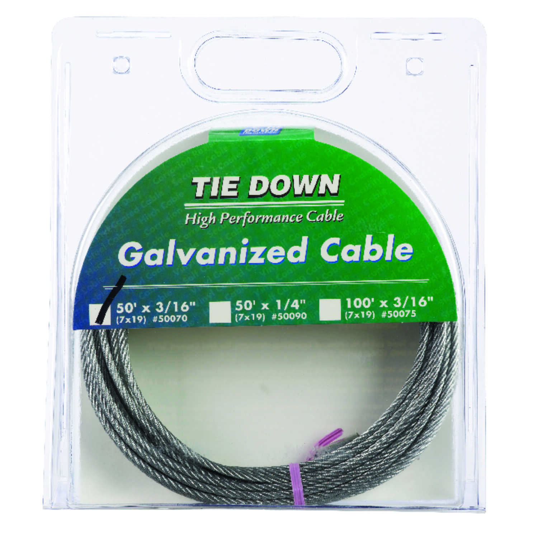 Tie Down Engineering Galvanized Galvanized Steel 3/16 in. Dia. x 50 ...
