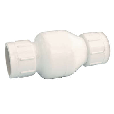 NDS  2 in. Dia. x 1-1/2 in. Dia. Slip  Plastic  Spring Loaded  Check Valve