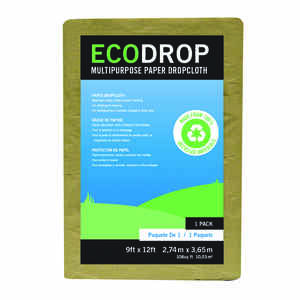 EcoDrop  9 ft. W x 12 ft. L Paper  Drop Cloth  1 pk