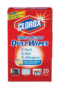 Clorox  Triple Action  Microfiber  Cleaning Wipes  8-1/2 in. W x 7 in. L 20 pk