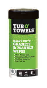 Tub O' Towels  Heavy Duty Granite and Marble  Fiber Weave  Cleaning Wipes  7 in. W x 8 in. L 40 pk