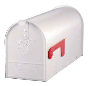 Gibraltar Mailboxes  Elite  Galvanized Steel  Post Mounted  White  Mailbox  8-3/4 in. H x 6-7/8 in.