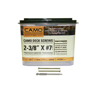 CAMO  No. 7   x 2-3/8 in. L Star  Protech Coated  Carbon Steel  Trim  1750 EA Deck Screws
