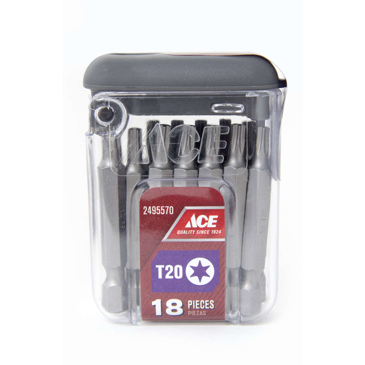 Ace Torx T20 x 2 in. L Screwdriver Bit S2 Tool Steel 18 pc.