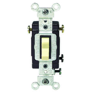 Leviton  Commercial Illuminated  Ivory  1 pk 15 amps Switch  Toggle