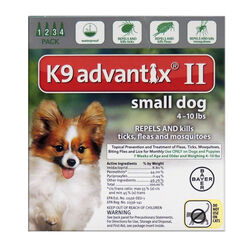 Bayer  K9 Advantix II  Liquid  Dog  Flea Drops  Imidacloprid/Permethrin/Pyriproxyfen  0.056 oz.