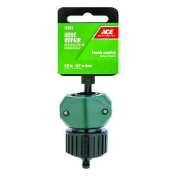 Ace  5/8 & 3/4 in. Nylon/ABS  Threaded  Female  Hose Mender Clamp
