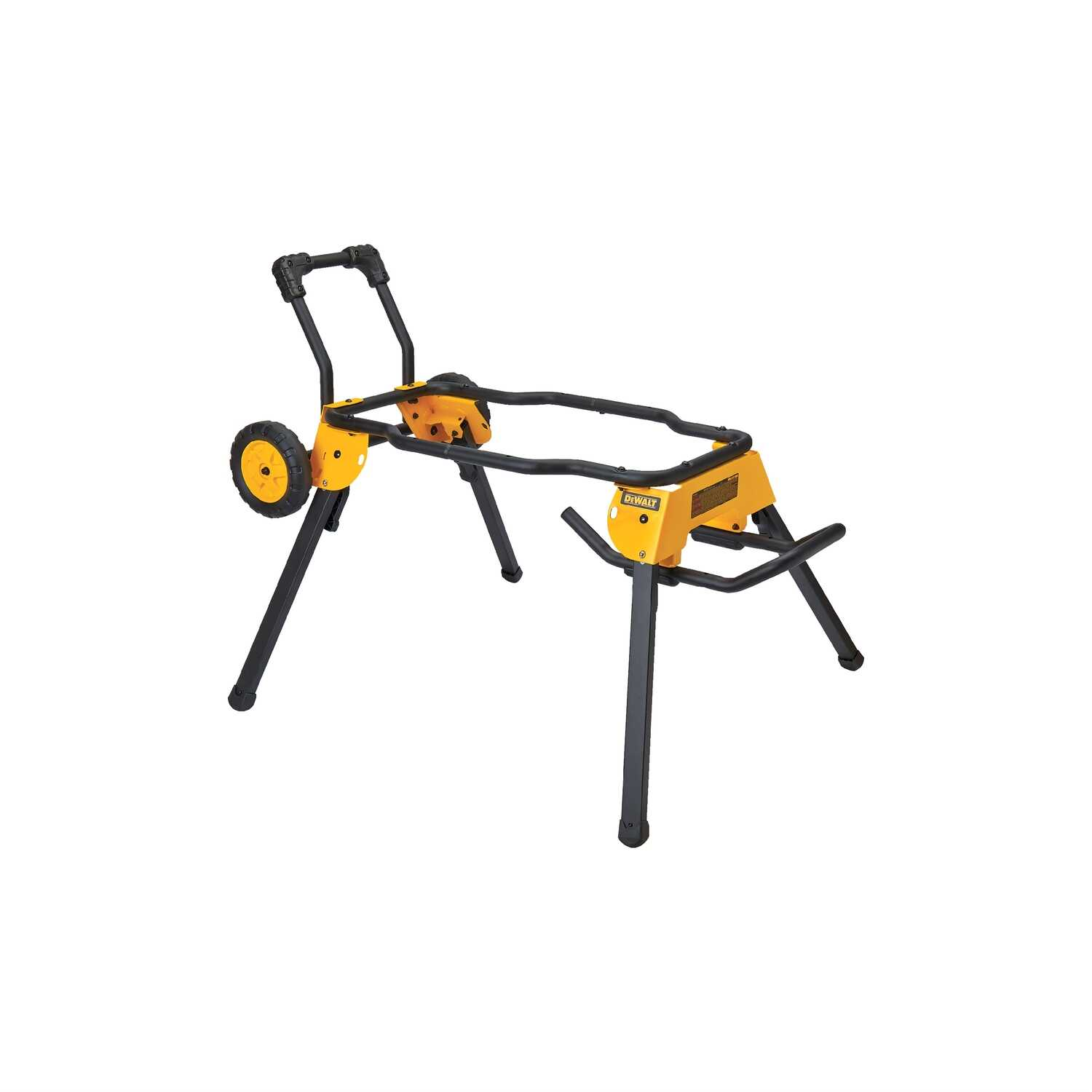 DeWalt  Steel  47-1/2 in. L x 25-1/4 in. H x 25-13/16 in. W Rolling Table Saw Stand  Yellow  1 pc.
